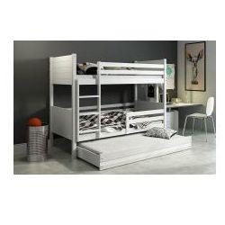 Łóżko piętrowe 3-osobowe Clir białe 80x190, 2290