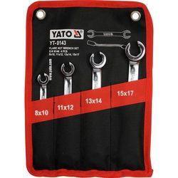YT-0143 ZESTAW KLUCZY PLASKICH POLOTWARTYCH 4CZ YATO, YT0143