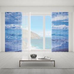Zasłona okienna na wymiar komplet - OCEAN & CLOUDS