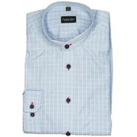 Koszula w kolorze niebieskim na stójce, Thomaswaxx