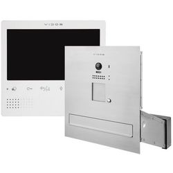 Zestaw wideodomofonu cyfrowego skrzynka na listy Vidos S1201A-SKM M1023W