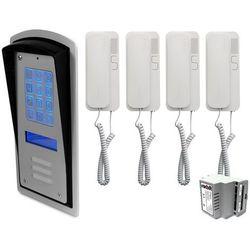 Zestaw 4-rodzinny panel domofonowy wielorodzinny z szyfratorem RADBIT BRC10 MOD, ZR12321