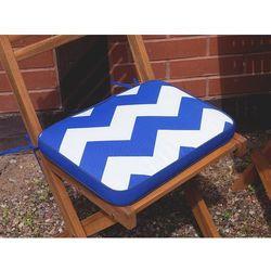 Beliani Poducha na krzesło fiji w niebiesko-białe zygzaki 29 x 38 x 5 cm (7105275508275)