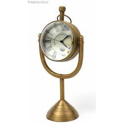 Mosiężny zegar stojący biurkowy księżyc