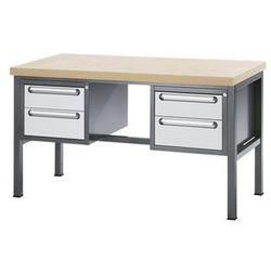 Stół warsztatowy z płytą MDF,4 szuflady, wys. 2 x 150, 2 x 180 mm