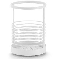 Zeller Metalowy stojak na akcesoria kuchenne, stojak na przybory kuchenne, pojemniki kuchenne, przybornik do kuchni, metalowy koszyk,