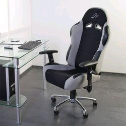 Mks Szary sportowy kubełkowy fotel biurowy gabinetowy - szary