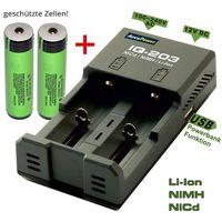 AccuPower IQ-203 + 2 szt Panasonic NCR18650B z kategorii Ładowarki do akumulatorów