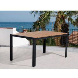Beliani Stół ogrodowy brązowy - meble ogrodowe – aluminium - 150 cm - como