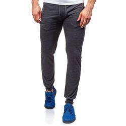 Antracytowe spodnie dresowe baggy męskie Denley 6018 - ANTRACYTOWY, J.STYLE