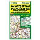 Mapa województwa dolnośląskiego - administracyjno-samochodowa 1:220 000 - Wydawnictwo Kartograficzne