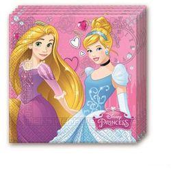 Serwetki urodzinowe Princess - Księżniczka - 33 cm - 20 szt.