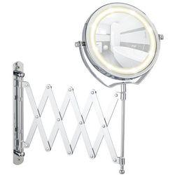 Wenko Lusterko kosmetyczne brolo z podświetleniem led i teleskopowym ramieniem, powiększenie x3, (4008838563809)