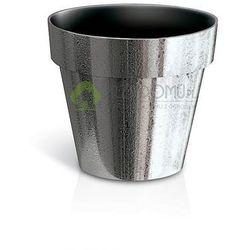 Doniczka Cube chrome DGC140SF faktura srebrny