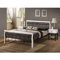 Łóżko venecja biało czarny 160 marki Signal meble
