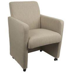 fotel luxury lniany 1200108 marki White label living