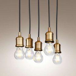 LAMPA wisząca BALOON P0178  industrialny PRZEWÓD zwis bulbs żarówki listwa loft złoty, produkt marki Maxlight