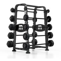 Zestaw sztang stałych 10-55 kg ze stojakiem  marki Marbo sport