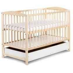 Klupś łóżeczko radek ii sosna z szufladą 120x60