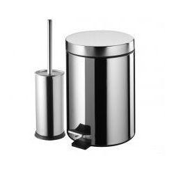 BISK Zestaw kosz na śmieci 3l + szczotka WC, chrom 05899