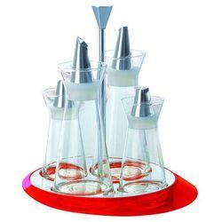- glamour - zestaw do przypraw - czerwony - czerwony marki Casa bugatti