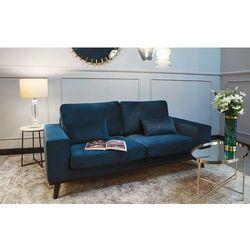 Sofa 2-osobowa Modena niebieska, kolor niebieski