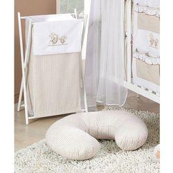 kosz na bieliznę wesołe zajączki brąz z białym marki Mamo-tato