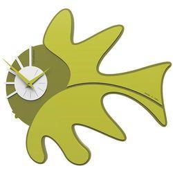 Calleadesign Zegar ścienny tropical fish  cedrowo-zielony