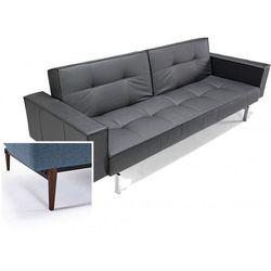 INNOVATION iStyle Sofa Splitback z podłokietnikami czarna 582 nogi ciemne drewno - 741010020582-741007020-10-3-2 - sprawdź w wybranym sklepie