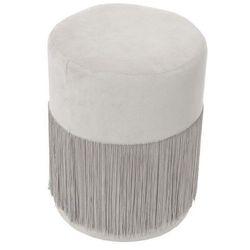 Pufa Plume Velvet szara - szary, kolor szary