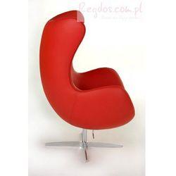Fotel Jajo czerwona skóra #65 - sprawdź w wybranym sklepie
