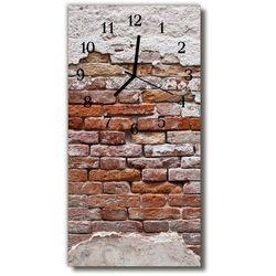Zegar Szklany Pionowy Ściana mur cegła czerwona