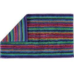 Cawo Dywanik łazienkowy stripes 70 x 120 cm kolorowy ciemny