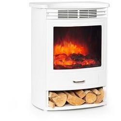 Klarstein Bormio S WH, kominek elektryczny, 950/1900 W, termostat, timer tygodniowy, biały (4060656231308)