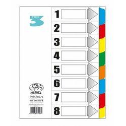 Przekładki kartonowe laminowane a4 1-8 kolorowe marki Tierra