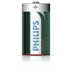2 x bateria cynkowo-węglowa Philips LongLife R14 C (taca) (bateria elektryczna)