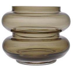 Hk living szklany wazon przydymiony brązowo-zielony rozmiar s agl4450 (8718921028301)