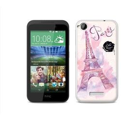 Fantastic Case - HTC Desire 320 - etui na telefon Fantastic Case - różowa wieża eiffla