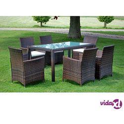 meble ogrodowe ze sztucznego rattanu, 13 części, brązowe marki Vidaxl