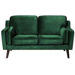 Sofa dwuosobowa tapicerowana zielona lokka marki Beliani