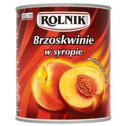 BRZOSKWINIA W SYROPIE 850ML ROLNIK z kategorii Przetwory warzywne i owocowe