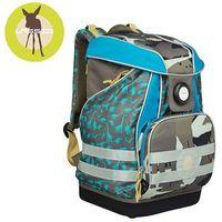 Lassig - Plecak szkolny XL ze sztywnymi plecami, i wodoodpornym dnem - Dino slate