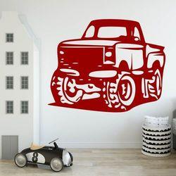 Wally - piękno dekoracji Naklejka welurowa dla dzieci auto terenowe 2331