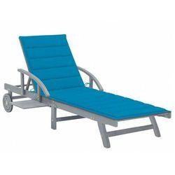 Niebieski leżak ogrodowy - solar marki Elior