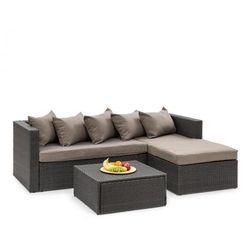Blumfeldt Theia Lounge ogrodowy zestaw wypoczynkowy, czarny / brązowy (4060656193835)