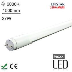 LED T8 150CM 6000K ZIMNY Świetlówka LED Zimna1500mm o mocy 27W 2200 lumenów 6000K - oferta [051a4f724745b6e0]