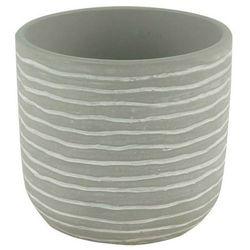 Goodhome Doniczka ceramiczna ozdobna 10,5 cm stripe (3663602440895)