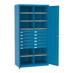 Szafa warsztatowa metalowa 10 półek 12 szuflad zamykana sl 162.21 marki Malow