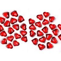 Kryształowe serca - czerwone - 2,1 cm - 30 szt.
