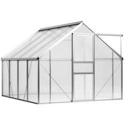 Vidaxl szklarnia z aluminiową ramą, 12,2 m³